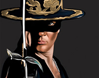 Zorro. Fanart painted in Adobe Photoshop CC