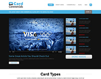 Card Commercials - Homepage Layout