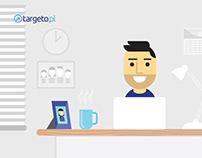 Explainer animation made for targeto.pl