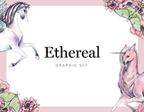 Ethereal Graphic Set & Font