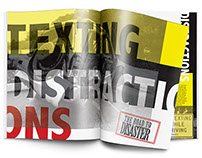 Distracted Driving Magazine Spreads