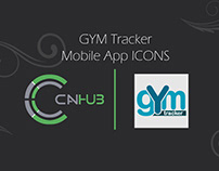 GYM Tracker | Mobile App ICONS