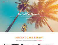 NaomiDesigns Responsive Portfolio Website 2016 - 2019