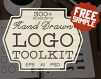 FREE SAMPLE Hand Drawn Logo Toolkit
