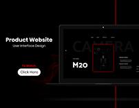Product Website Landing Page UI Design