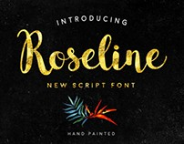 Freebie of the Week: FREE Roseline Font