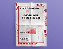 Univers Type Specimen Poster