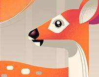 Animal Retro Poster