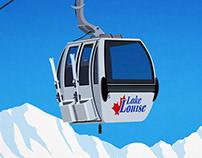Lake Louise Ski Resort Poster