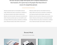 Minimal WordPress Theme.