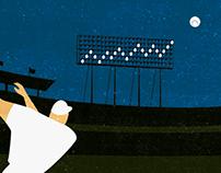 Baseball Statistics - gif and illustration
