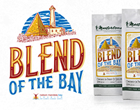 Blend Of The Bay coffee label