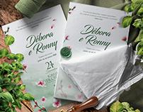 Convite de Casamento e Papelaria | Débora e Ronny