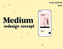 Medium Redesign Concept
