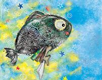Little Black Fish - Editorial Illustration