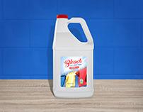 Free Bleach / Fabric Softener Bottle Mockup PSD