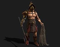 Retiarius Gladiator 3D model