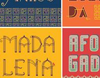 Bairros do Recife em letterings