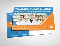 Pharmacy Postcard Template