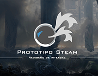 UI / UX Software Prototipo Steam - Rediseño de interfaz
