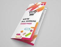 Tri-fold Brochure design with free mockup