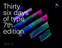 36 days of type. 7th edition.