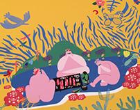 BBQ paradise 2017 yellow poster version
