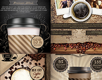 Coffee Shop Promotion Flyer Template Bundle
