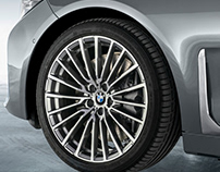 BMW 7 series - facelift. Luxury wheel
