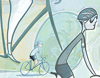 les cyclistes Illustration