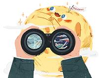 #儿童青少年文学类插画合作及个人练习