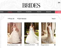 Web Redesign Mock-up 'Brides'