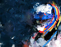 Colors of speed - Fernando Alonso at Daytona Speedway