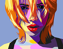 Pop art portrait in Illustrator (WPAP Style)