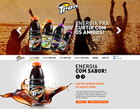 Proposta de site para o guaraná natural Tron