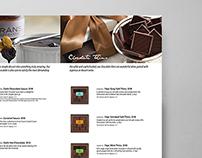 Fran's Chocolates Catalog Design