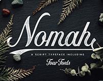 Nomah | A Script Typeface + Bonus