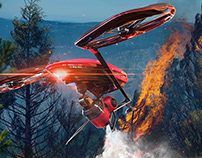 """Forest fireproofing patrol unmanned aerial vehicle"""