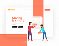 Grocery shopping app landing page
