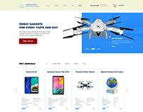 Web design of a gadget store
