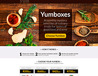 Yumporium Landing Page Design