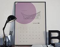 Warsaw modernism - calendar