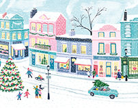 Christmas on Notting Hill- design for tea packaging