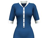 Dynamic 3D Marvelous Designer Executive Dress