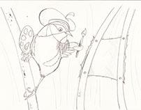 Bocetos caricaturas de Aves