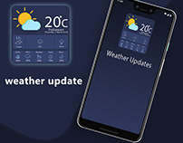 weather update App Design