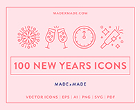 Line Icons – New Years Eve