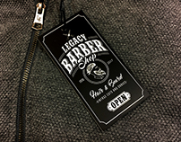 "HANG TAG LEGACY ""BARBER SHOP"""