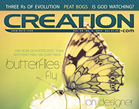 Creation Magazine 35(2) cover design