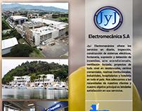 Arte de JyJ Electromecánica para revista Grandes Obras